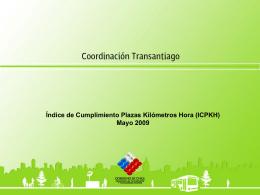 Índice de Cumplimiento Plazas Kilómetros Hora (ICPKH) Mayo 2009