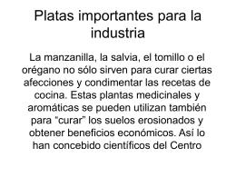 Platas importantes para la industria