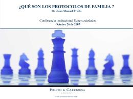 EL PROTOCOLO DE FAMILIA