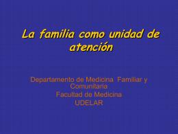 La familia como unidad de atención