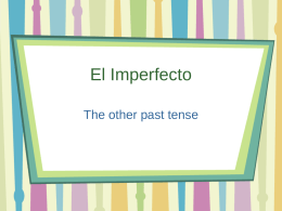 El Imperfecto - Chittenango Central Schools