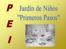 Jardín de Niños PRIMEROS PASOS