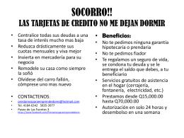 SOCORRO!! LAS TARJETAS DE CREDITO NO ME DEJAN DORMIR!!!