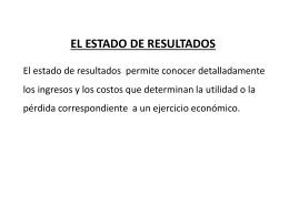 2.- EL ESTADO DE RESULTADOS