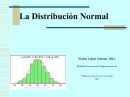 Presentación sobre la distribución norma