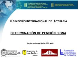 Determinación de Pensión Digna
