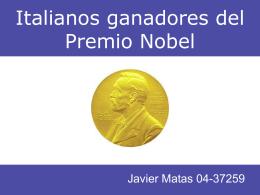Italianos ganadores del Premio Nobel - Cultura