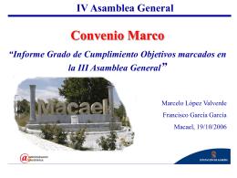 IV Asamblea General Convenio Marco
