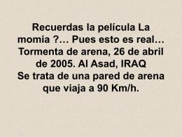 Tormenta en Irak - El Rincón de Paco Redondo