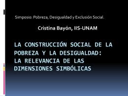 La construcción social de la pobreza y la - Ciencias y futuro