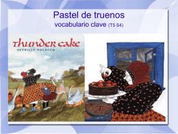 Pastel de truenos vocabulario clave (T5 S4)