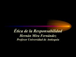 ETICA DE LA RESPONSABILIDAD