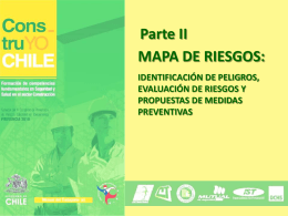 Mapa de Riesgos - Construyo Chile