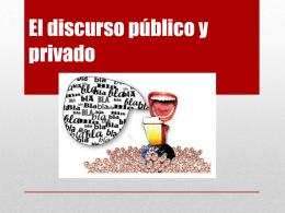 discurso privado y publico