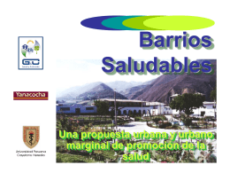 Barrios Saludables