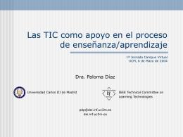 Uso de las TIC como apoyo en el proceso de enseñanza/aprendizaje