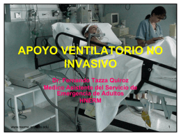 APOYO VENTILATORIO NO INVASIVO