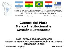 Cuenca del Plata Marco Institucional y Gestión Sustentable