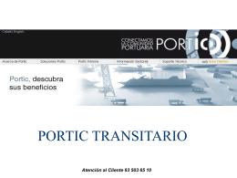 PORTIC TRANSITARIO