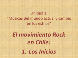El movimiento Rock en Chile primera parte