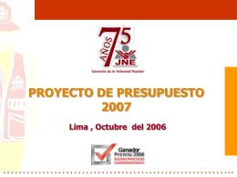 Jurado Nacional de elecciones - Congreso de la República del Perú