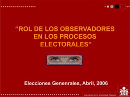 Slide 1 - JNE - Jurado Nacional de Elecciones
