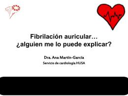 Fibrilación auricular… ¿alguien me lo puede explicar?