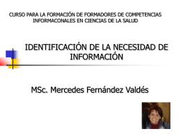 IDENTIFICACIÓN DE LA NECESIDAD DE INFORMACIÓN