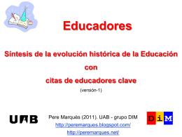 Educadores - Web de Pere Marquès