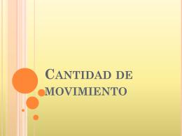 cantidad de movimiento