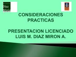 consideraciones practicas presentacion