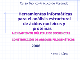 Construcción de árboles filogenéticos