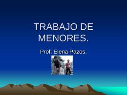 TRABAJO DE MENORES.