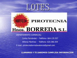 LOTES - Red Festera
