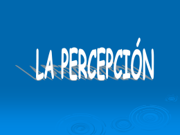 Trabajo de la percepcion