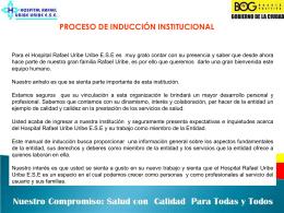 Proceso de Inducción - Hospital Rafael Uribe Uribe ESE