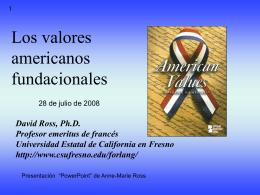 Los valores principales americanos