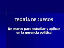 TEORÍA DE JUEGOS - Red de Partidos Políticos