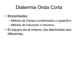Diatermia Onda Corta