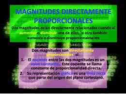 MAGNITUDES DIRECTAMENTE PROPORCIONALES Dos