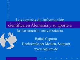 Los centros de información científica en Alemania