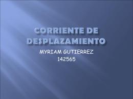 CORRIENTE DE DESPLAZAMIENTO