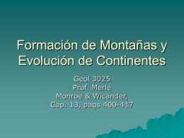 Formación de Montañas y Evolución de Continentes