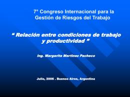 Condiciones de trabajo y productividad - InEA