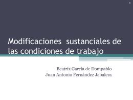 Modificaciones sustanciales de las condiciones de trabajo