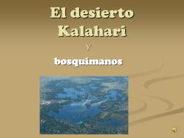 El desierto Kalahari