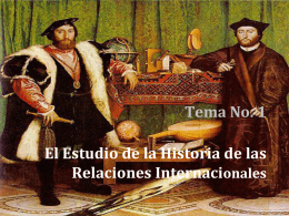 El Estudio de la Historia de las Relaciones Internacionales