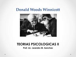 D. Winnicott - TEORIAS PSICOLOGICAS II