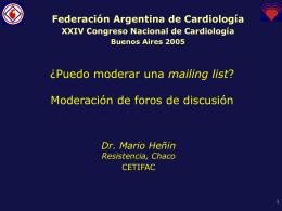 PPT 0.3MB - Federación Argentina de Cardiología