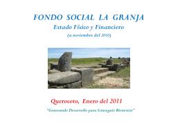 Presentación Fondo Social La Granja